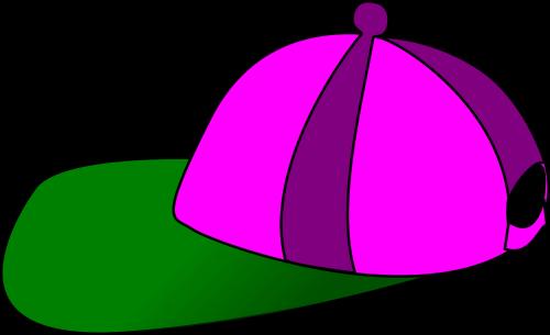 hat cap purple hat