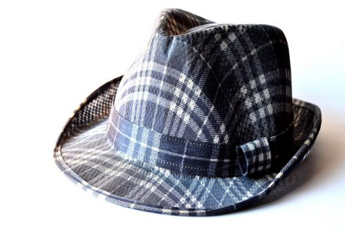 hat fashion checkered