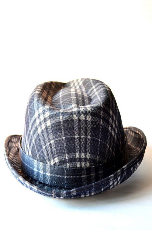 hat fashion checkered