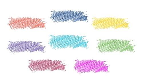 hatch  colored pencil  scratches