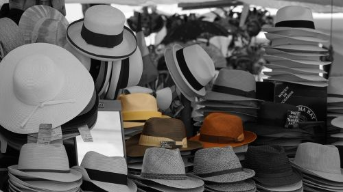hats sales stand market stall