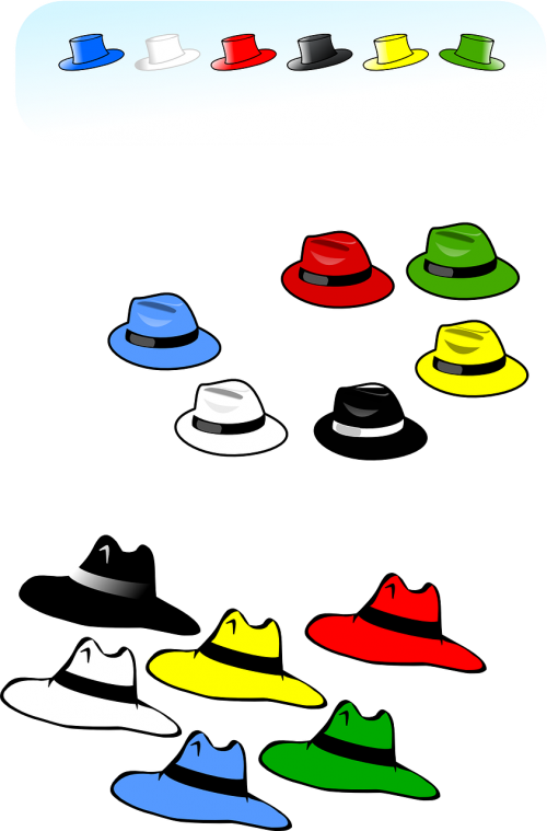 hats collection colorful