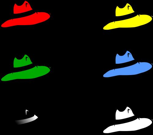 hats six colorful