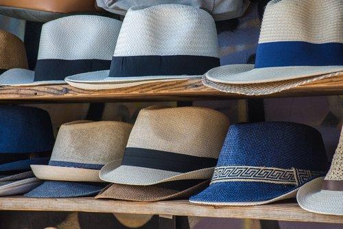 hats  shelving  colors