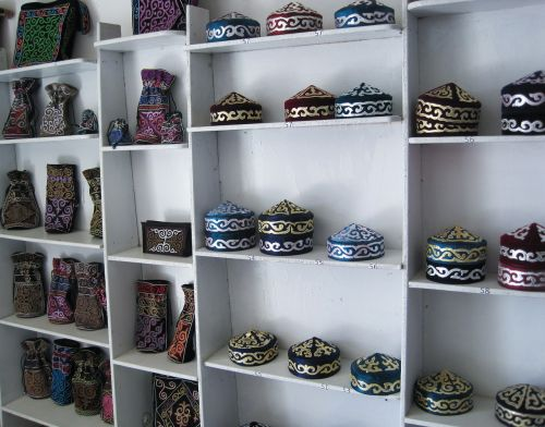 hats kazakhstan crafts