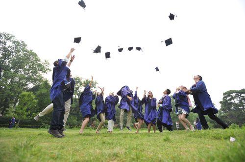 hats graduation jumping
