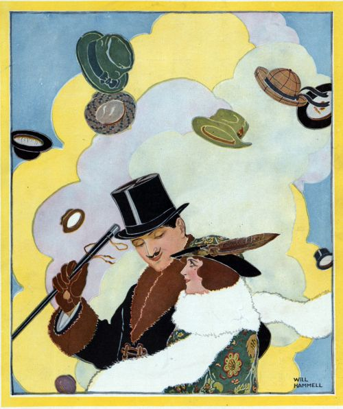 Hats In Air Vintage Poster