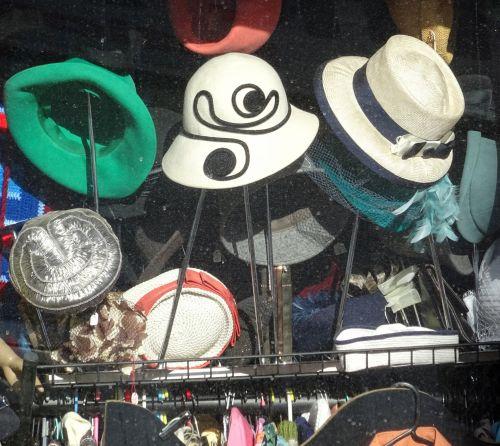 Hats In Second Hand Shop Window