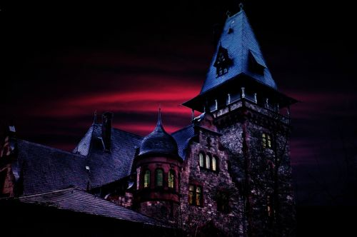 haunted house castle tower