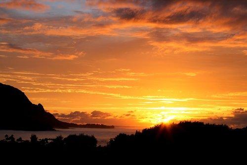 hawaii  sunset  beautiful