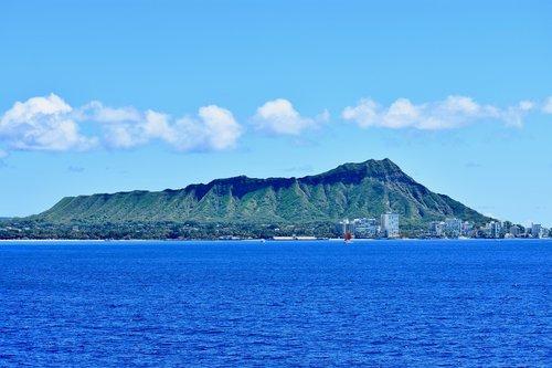 hawaii  diamond head  honolulu