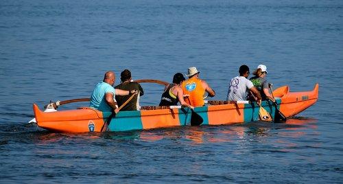 hawaiian  outrigger canoe  people