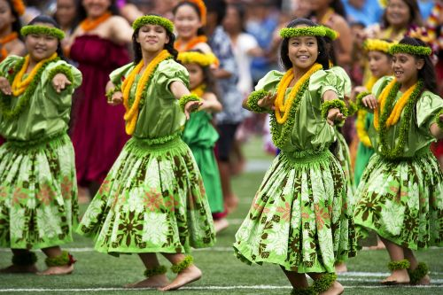 hawaiian hula dancers aloha stadium dod photo