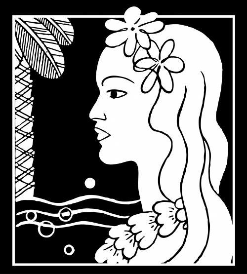 Hawaiian Woman Silhouette