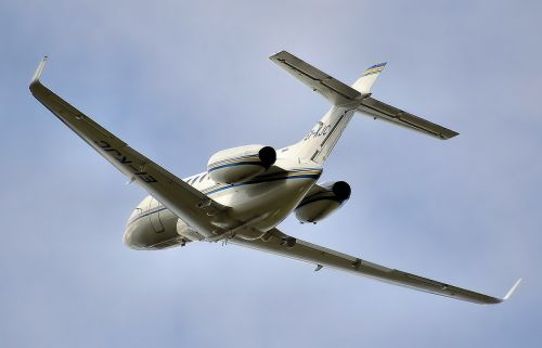 hawker jet takeoff
