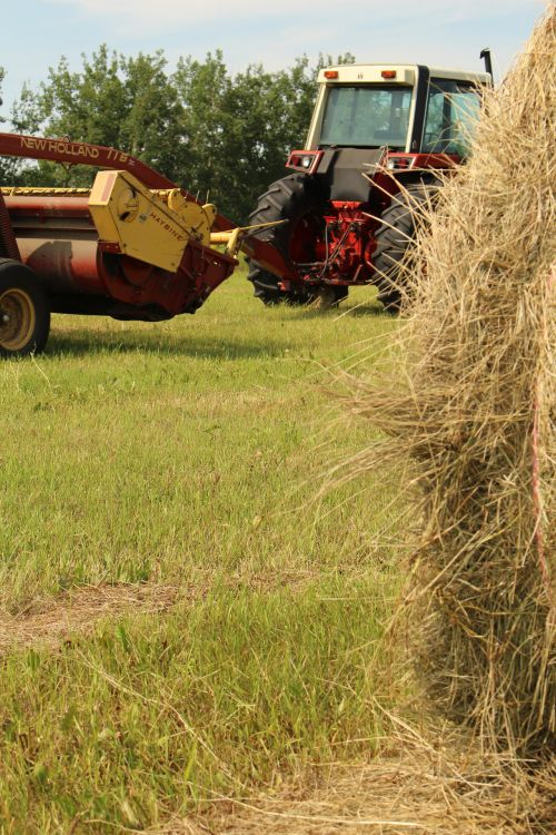 Hay Bale Farm Equipment Tractor