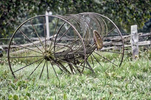 hay rake vintage equipment farm