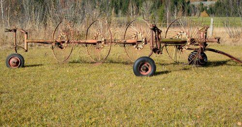 hay tedders hay grass