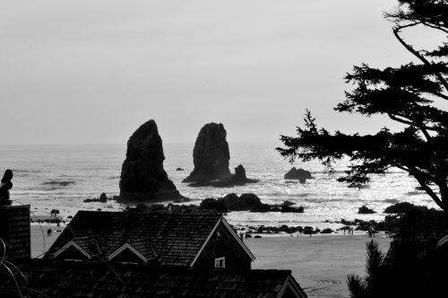 Haystack Rocks In Oregon