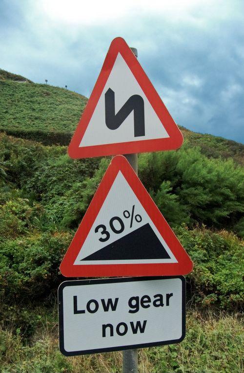 hazard warning road