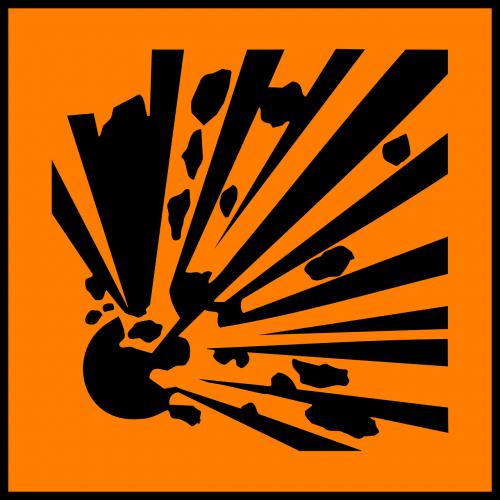 hazard explosion caution