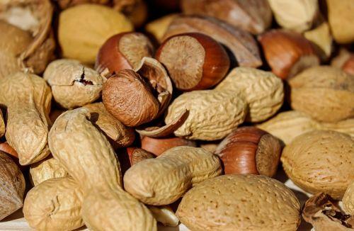 hazelnut peanut almonds