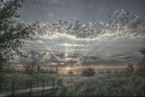 hdr clouds landscape