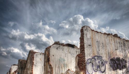 hdr destroyed area old factory