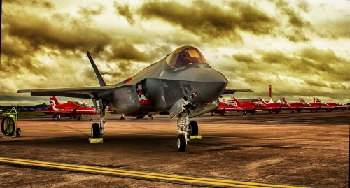 hdr fighter jet aircraft
