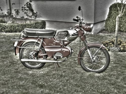 hdr hdr photography moped
