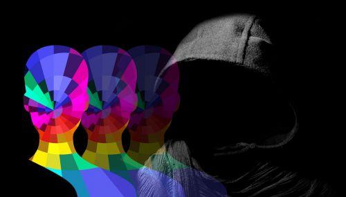 head silhouette hood