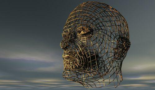 head human head half profile
