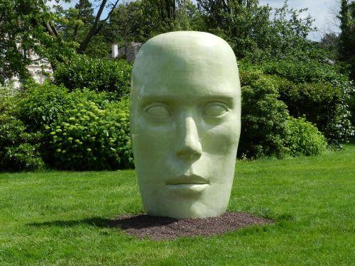 galva,milžinas,kultūra,statula,meno kūriniai,menas,menininkas,sodas,deko,žalias fonas,žalias