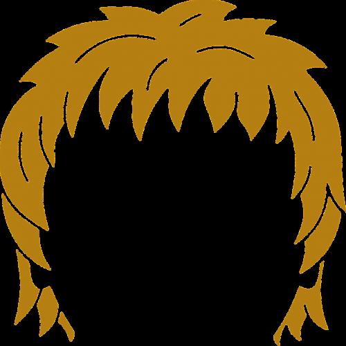 head brown hair