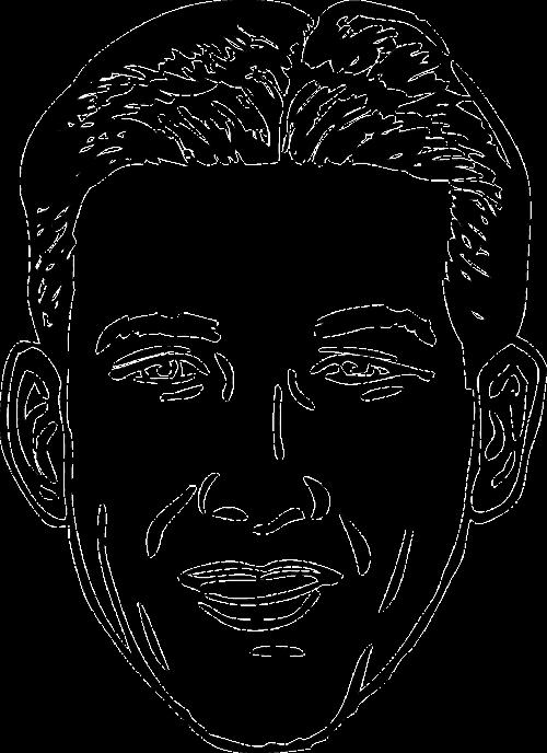 head face man