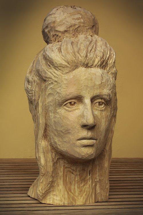 head  woman  sculpture