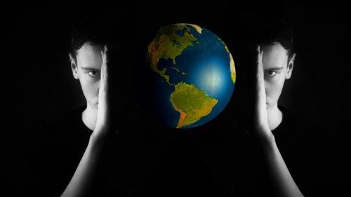 head  world  globe