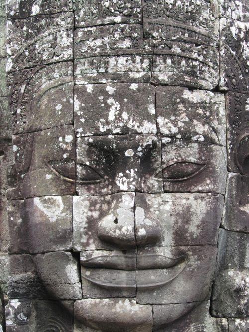 head cambodia angkorwhat