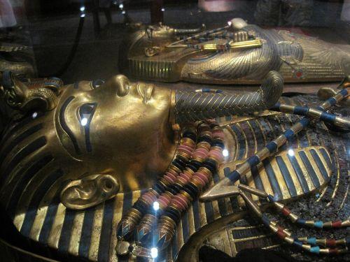 mama, egyptian, galvos apdangalai, puikus, kopija, Tutankhamuno mamytės galvos apdangalai