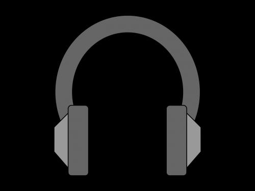 headphone music gray
