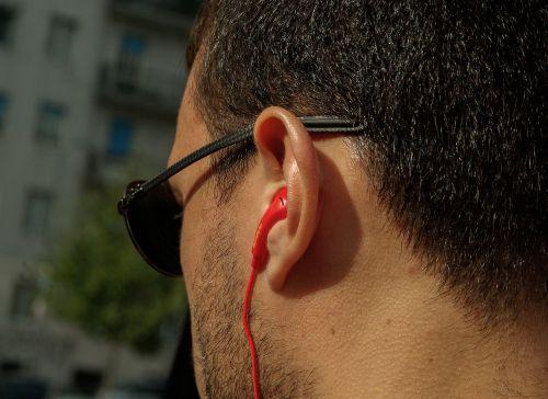 headphones ear music