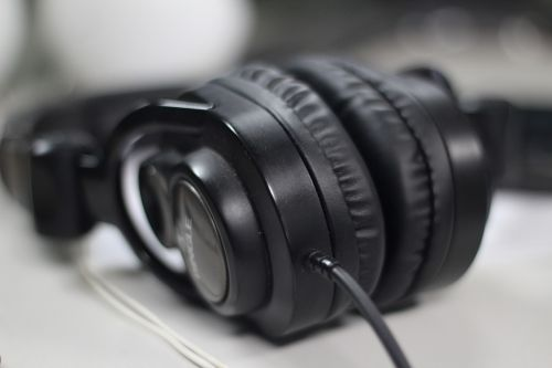 headphones black headset