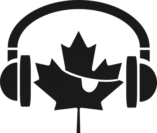 headphones earphones maple leaf