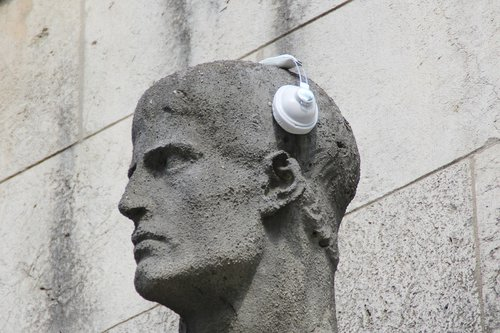 headphones  statue  sculpture