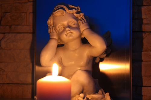hear no evil angel candle