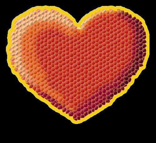 heart valentine's day pixels