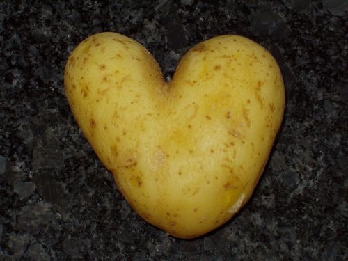 heart potato stone
