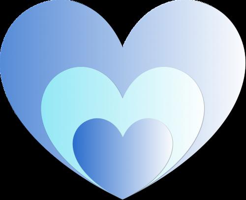 heart hearts blue