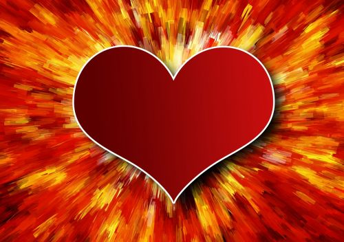 heart explosion love