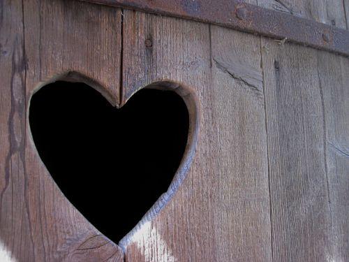 heart wood door